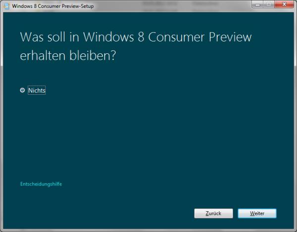 Was soll in Windows 8 Consumer Preview erhalten bleiben? Nichts?!
